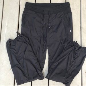 Lululemon Black Drawstring Pants Striped
